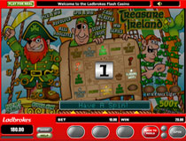 When you activate the Treasure Ireland bonus  you can reach the various features by clicking the Spin button to spin the bonus reel.