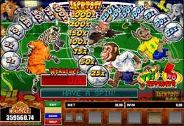 Themed around the 2006 World Cup Game On! is a three reel, one payline, and one coin slot machine. Game On! has the Soccer Safari bonus game and multiple Nudge and Hold features.